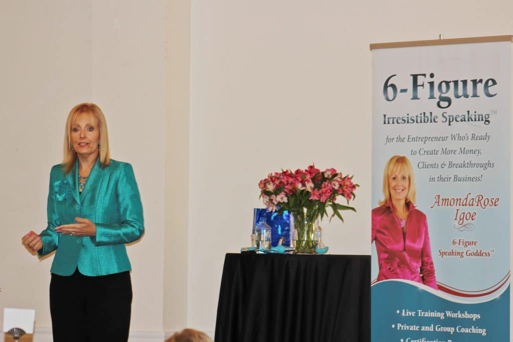 AmondaRose Igoe at her 6-figure irresistible speaking event