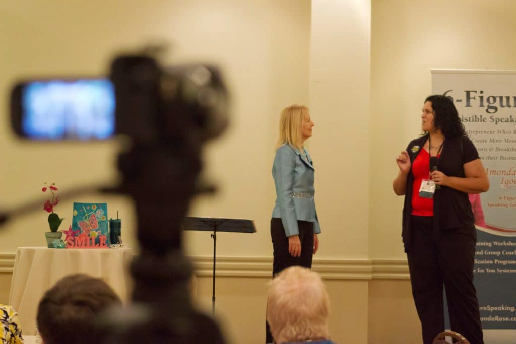 AmondaRose at her 6-Figure Irresistible Speaking Workshop