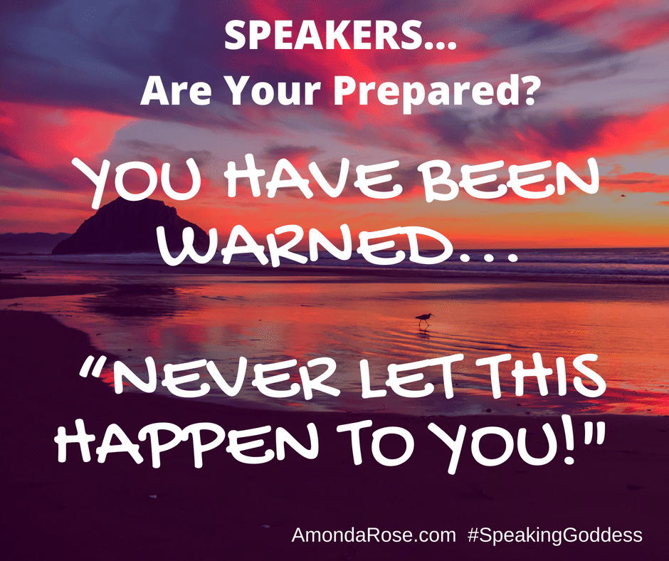 speaker preparation booking speaking opportunities contract mistakes