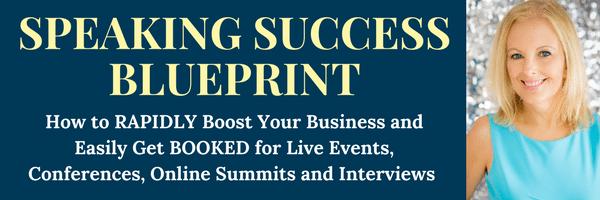 Speaking Success Blueprint Banner