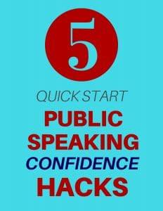 public speaking confidence hacks