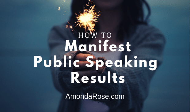 a woman in the dark, holding a light in her hands, how to manifest public speaking results