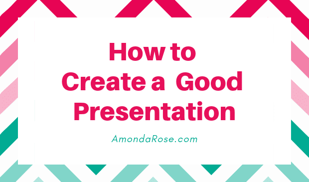box with colored frame and pink lettering, how to create a good presentation