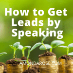 plant sprouts in little bamboo containers, How to Get Leads | Create Impact, Influence and Income by Speaking