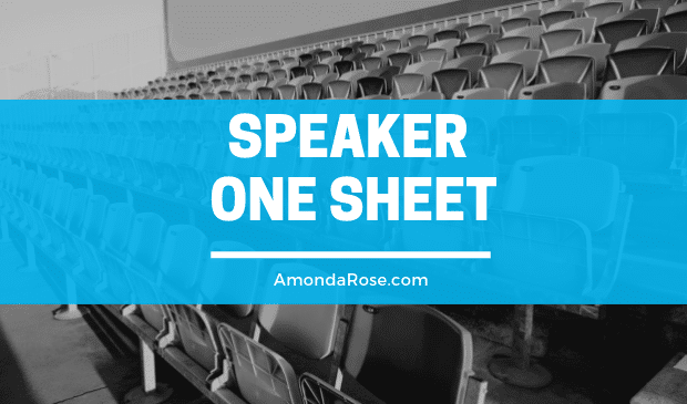 Speaker One Sheet Elements Every Successful Speaker Wants to Know About