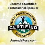 High Performance Speaking Certified Logo, Become a Certified Professional Speaker, Speaker Certification