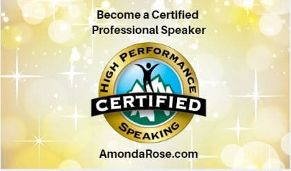 Professional and Public Speaker Certification: High Performance Speaking Certified