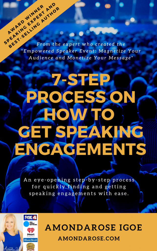 book cover 7-step process on how to get speaking engagements