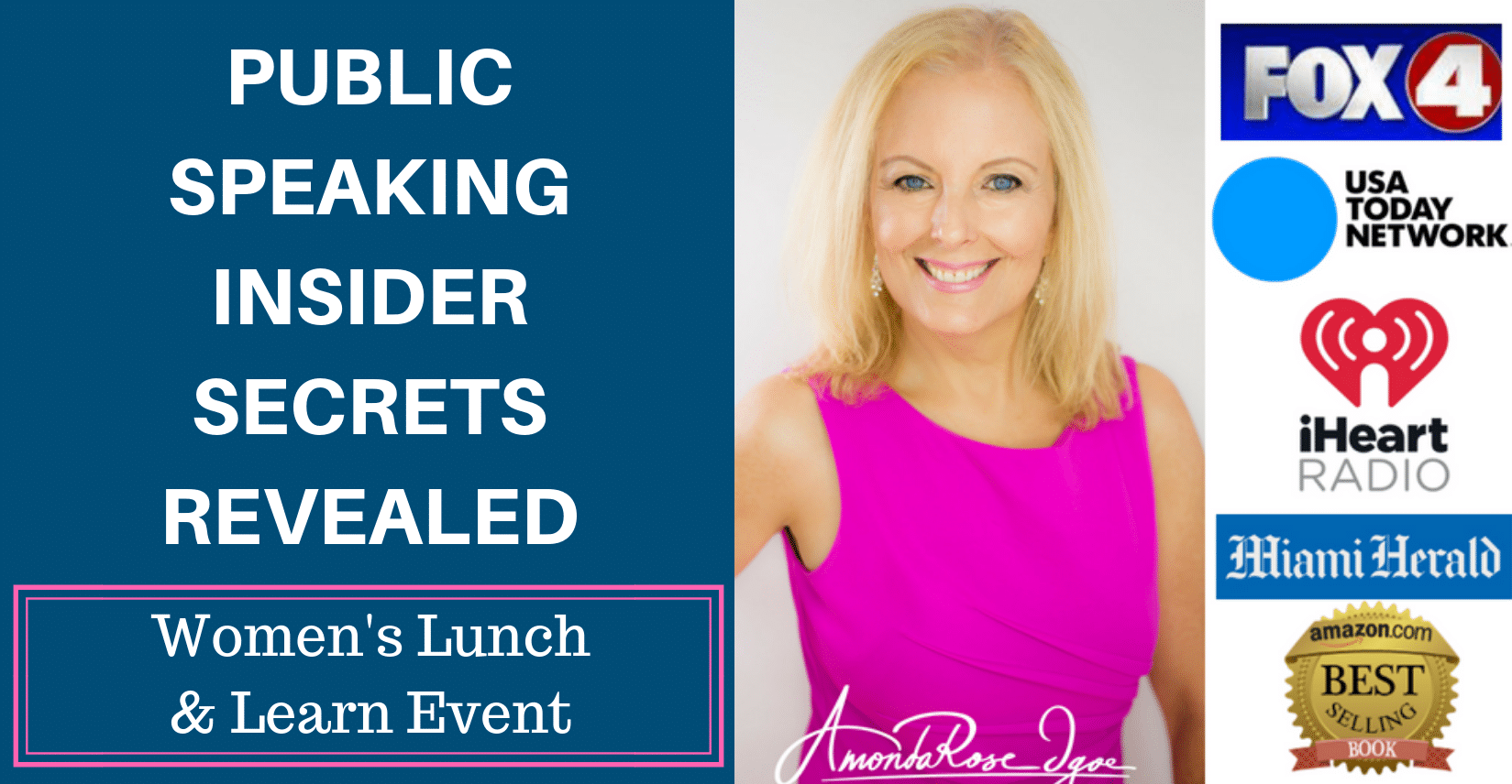 Public Speaking Insider Secrets Revealed: Women's Lunch and Learn Event
