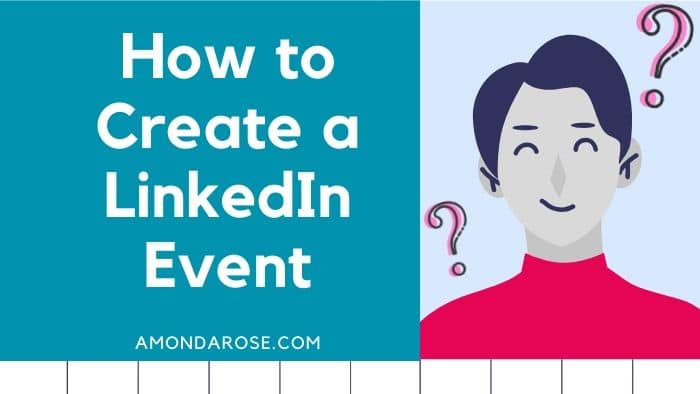 drawing of speaker with question marks surrounding him, how to create a LinkedIn event