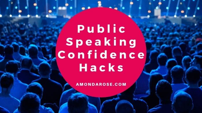 audience in blue light, listening to a spaker, 5 Public Speaking Confidence Hacks
