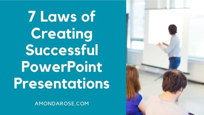 a speaker in front of a whiteboard, audience is taking notes, 7 Laws of Creating Successful PowerPoint Presentations