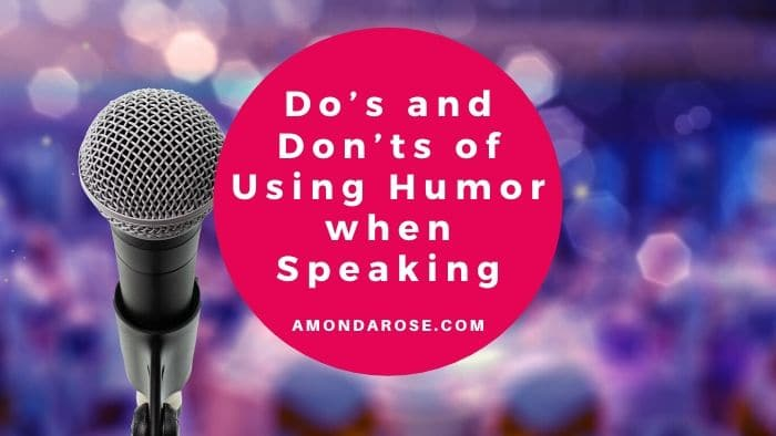 microphone in front, audience listening to a speaker in the background, Pros and Cons of Using Q & A in Your Presentations