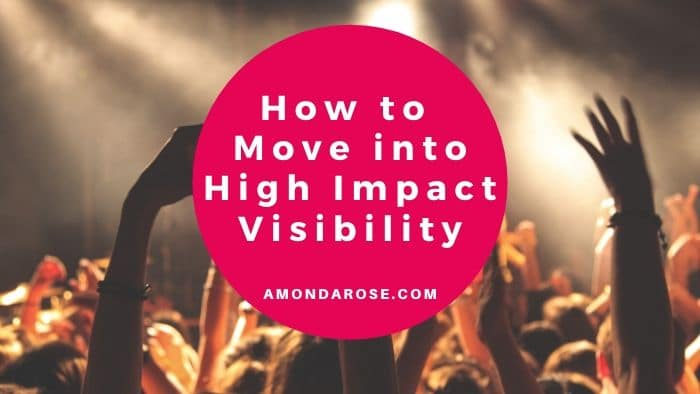 audience, raising their arms in the air, How to Move into High Impact Visibility