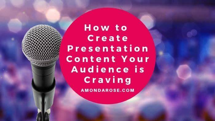 microphone in the front, audience in the background, How to Create Presentation Content Your Audience is Craving