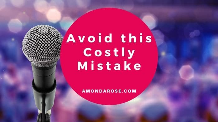 microphone in the front, audience in the back, Speaker Contracts: #1 Costly Speaking Engagement Agreement Mistake and How to Avoid It
