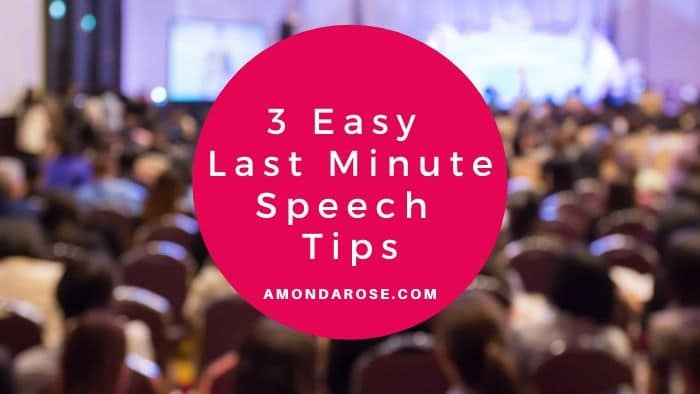 Impromptu Presentation – 3 Easy Last Minute Speech Tips