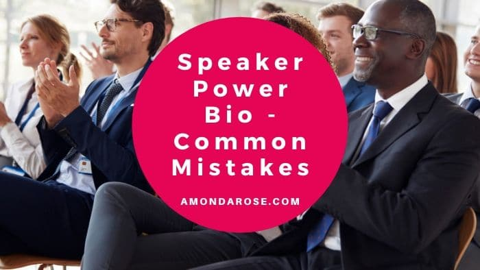 business people applauding to speaker, Speaker Power Bio – Common Mistakes the Speakers Make When Using a Speaker Introduction